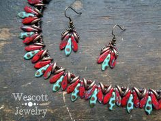 Pattern for Godet Necklace and Earrings with by WescottJewelry