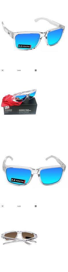 Sunglasses 131411: Under Armour 8600102-140061 Rookie Shiny Crystal Frame Gray Blue Lens Youth Size -> BUY IT NOW ONLY: $49.95 on eBay!