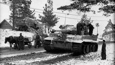 Tiger in Russian winter, 1943-44.