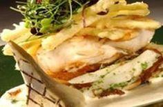 pladijs met gewokte asperges en ham