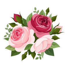 Elegant flowers bouquet vector 03 Vector Flower free download Vector flowers Flower art Rose illustration