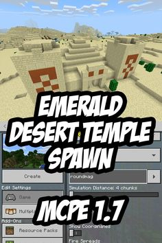 Grab the chest loot from the pyramid/desert temple at the game spawn point in this Minecraft PE Seed (Bedrock Edition Seed). Minecraft Pe Seeds, Minecraft Construction, Minecraft Tutorial, Minecraft Creations, Minecraft Memes, Minecraft Designs, Minecraft Projects, Minecraft Crafts, Minecraft Houses