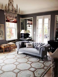 Mary Mcdonald / Wrap Around Mirror / Tufted Sofa. Los Angeles Interior  Designer ...