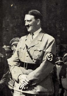 Germany, A postcard from the beginning of the Nazi government, depicting Adolf Hitler in uniform.
