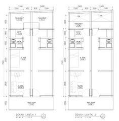Hasil gambar untuk desain kontrakan 2 lantai