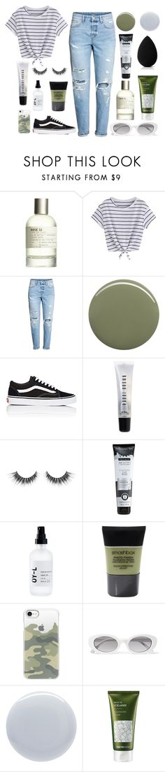 """""""✧ Boyfriend Jeans ✧"""" by otterspace ❤ liked on Polyvore featuring Le Labo, H&M, Oribe, Vans, Bobbi Brown Cosmetics, OY-L, Smashbox, Casetify, Elizabeth and James and Deborah Lippmann"""