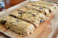 homemade applesauce and peanut butter granola bars