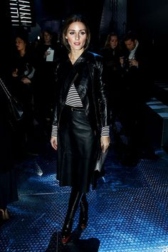 Front row semanas de la moda Paris otono invierno 2014. Olivia Palermo en el desfile FW14 de Nina Ricci