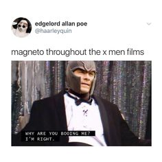 Anyone who says that they'd be against magneto if they were a mutant in the X-men universe is a liar
