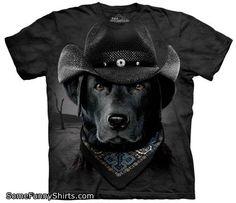 The Mountain Cowboy Lab Men's Black T-Shirt L