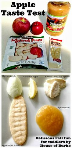 Apple Taste Test Sensory Activity - exercise your little ones taste buds and expand their palate with this fun flavorful fall activity! - House of Burke