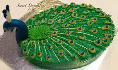 Buttercream Peacock - Cake by Deepa Pathmanathan