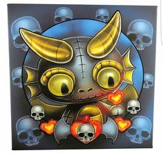 Frightlings Emo Art, Goth Art, Cute Monsters, Little Monsters, Gothic Fantasy Art, Gothic Fairy, Cartoon Drawings, Art Drawings, Creepy Art
