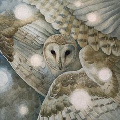 Artist: Lily Seika JonesImage Size: x Size: x Method: GicleéPaper Type: WatercolorNote: All prints are shipped rolled in a tube. Rodin, Mirror Painting, Owl Art, Wildlife Art, Beautiful Paintings, Beautiful Images, Watercolor And Ink, Illustrators, Fantasy Art