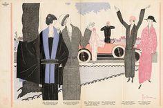 The Flapper Girl: Georges Lepape, Les Modes Elegantes, 1922
