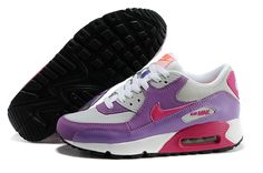 Nike Air Max 90 2007 GS Pure Platinum Fusion Pink Laser Pink Total Orange Shoes