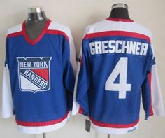 """$34.88 at """"MaryJersey""""(maryjerseyelway@gmail.com) Rangers 4 Ron Greschner Blue-White CCM Throwback Stitched NHL Jersey"""
