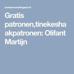 Gratis patronen,tinekeshaakpatronen: Olifant Martijn