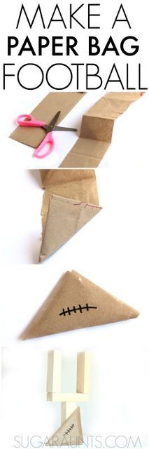 How to make a paper football.