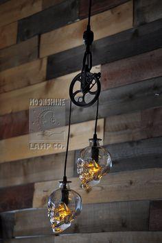 The Warehouser Skull Pendant by MoonshineLamp on Etsy