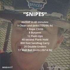 """Snipes"" WOD - AMRAP in 40 minutes: 9 Clean-and-Jerks (135/95 lb)"