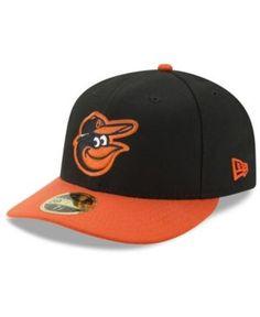 New Era Baltimore Orioles Low Profile Ac Performance 59FIFTY Cap - Black/Orange 7 1/8