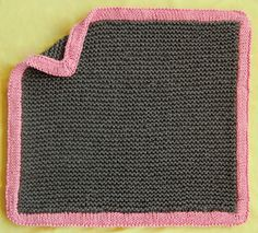 """Bulky Baby Blankets - the purl bee  Because the kid's gonna want to carry this around when they're no longer a *baby*, so dump that Baby Pink or that wimpy Light Green mess and use some crazy fun cool combinations that won't scream """"I'm a binkie!!"""" when the kid is 8...or 11...or going off to college."""