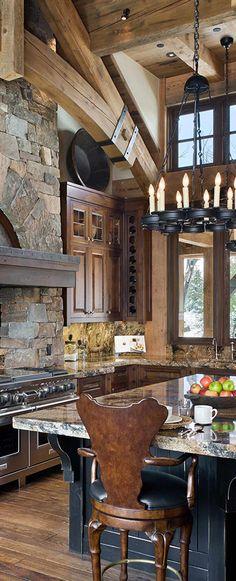 Rustic Cabin Kitchen #rusticdecor #rustickitchen #cabinlife