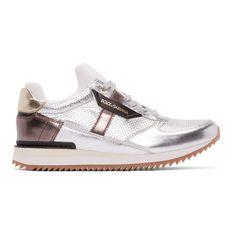 Dolce   Gabbana - Silver Metallic Low-Top Sneakers Módní Obuv 1f3ea2e146