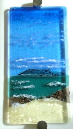 Fused Glass Wall Art   ... detail for -Table Mountain Fused Glass Wall Art. A Gift. London 2010