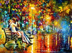 Couple Kissing by Leonid Afremov   Passion Evening - New Painting by Leonid Afremov - Passion Evening ...