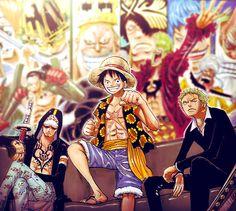 Guys-that-everyone-wants to-marry-but-don't-exist. Trafalgar Law, Monkey D. Luffy, Roronoa Zoro. One Piece . Dressrosa