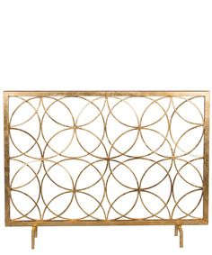Gold Circle Fireplace Screen