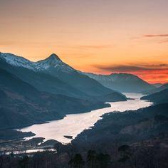 Highlands Sunset above Loch Leven, Scotland