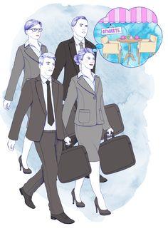 Ilustracja o korporacji #business #businessillustration #ilustracja