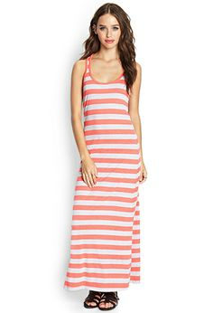 Knotted Stripe Maxi Dress | FOREVER 21 - 2000090436