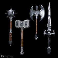 fantasy medieval weapons 3d model