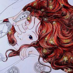 Instagram media gon.gon_________________ - # #coloring #colouring #coloringbook #colouringbook #thetimegarden #adultcoloringbook #daria #dariasong #book #stabio #swan #colored #pencils #painting #paint #drawing #art #cool # #cute #cutie #vietnam #vietnamese #khuvuonthoigian @daria486
