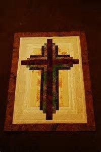Image result for Christian Cross Quilt Pattern Log Cabin
