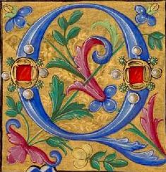 Illuminated Letters, Illuminated Manuscript, Book Illustration, Illustrations, Illumination Art, Book Of Hours, Celtic Art, Brand Board, Medieval Art