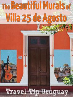 The small town of Villa 25 de Agosto in Uruguay is worth a visit to admire over 60 finely executed murals, which decorate many buildings in town. 25 de Agosto is about an hour north of Montevideo by car. #streetart #uruguay #murals #destination
