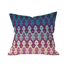 When solids just won't do, go for an exquisite pattern in ravishing colors. The Inked Incense Outdoor Throw Pillow blends a simply stunning range of purples and blues against an off-white background, a...  Find the Inked Incense Outdoor Throw Pillow, as seen in the #TheGenieDen Collection at http://dotandbo.com/collections/thegenieden?utm_source=pinterest&utm_medium=organic&db_sku=105600