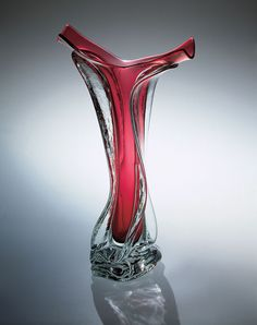 Hand-made glass at Art Leaders Gallery. River Vase by Ed Branson. Browse fine art, sculpture, glass and affordable art pieces: artleaders.com | 248-539-0262
