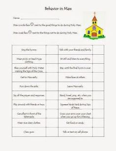 first communion worksheets for children | Found on catholicblogger1 ...