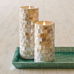 Mother Of Pearl Floor Pillar Candle Stand Small Home