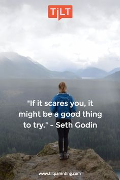 """If it scares you, it might be a good thing to try. Scared Quotes, Brave Quotes, Seth Godin Quotes, Breakfast Quotes, Words Quotes, Sayings, Leadership Quotes, Parenting Quotes, Meaningful Words"