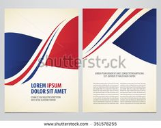Vector brochure, annual report, flyer, magazine template. Modern red and blue corporate design.
