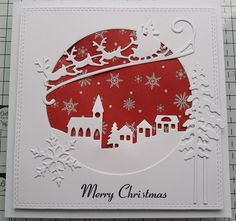 Christmas by crafty-sisters Inspiration docrafts Simple Christmas Cards, Christmas Card Crafts, Homemade Christmas Cards, Funny Christmas Cards, Holiday Cards, Homemade Cards, Elegant Christmas, Christmas Movies, Christmas Card Making