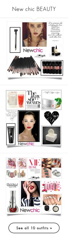 """""""New chic BEAUTY"""" by binche ❤ liked on Polyvore featuring De Lacy, National Tree Company, ADZif and Nicole"""