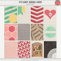 Eye Candy Journal Cards Layout Inspiration, Journal Cards, Digital Scrapbooking, Eye Candy, Kids Rugs, Eyes, Project Life, Scrapbook Layouts, Journaling